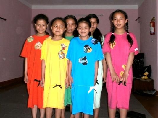 Nepal Girls in Dresses